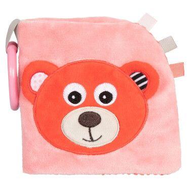 Canpol babies Іграшка-книжчечка м'яка розвиваюча BEARS - коралова