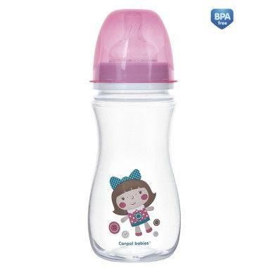 Пляшка з широким отвором антиколікова Easystart - Toys 300 мл рожева лялька