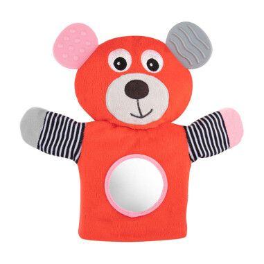 Canpol babies Іграшка-рукавичка м'яка з прорізувачем BEARS - коралова