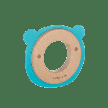 Canpol babies Іграшка-прорізувач Ведмедик (дерев'яно-силіконова)