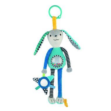 Canpol babies Іграшка м'яка з брязкальцем і дзеркалом Довгі вушка