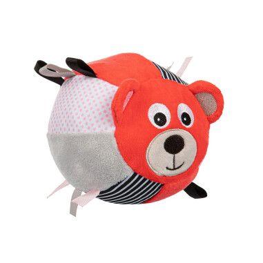 Canpol babies Іграшка-м'ячик м'яка з дзвоником BEARS - коралова