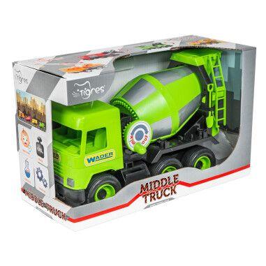 """Авто """"Middle truck"""" бетонозмішувач (зелений) в коробці"""