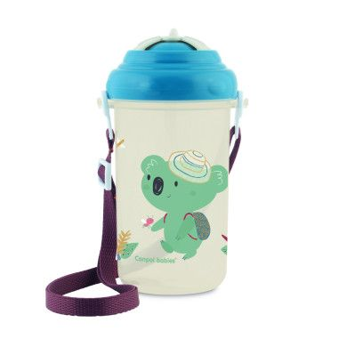 Canpol babies Бідончик зі складною трубочкою силіконовою 400 мл Adventure - синій