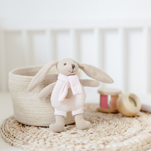 Canpol babies Іграшка-брязкальце м'яка Кролик - рожева - 10