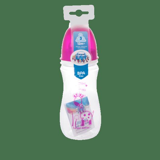 Пляшка з широким отвором антиколікова Easystart - Кольорові звірята 300 мл - 3