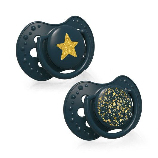LOVI Пустушка силіконова динамічна 6-18 м-ців 2 шт. Stardust - зелена - 3