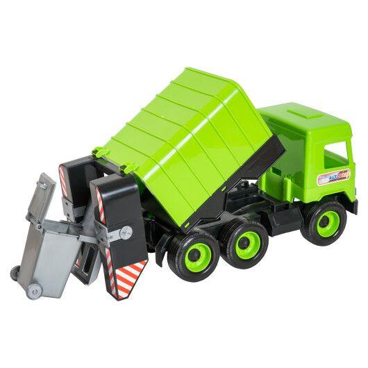 """Авто """"Middle truck"""" сміттєвоз (зелений) в коробці - 3"""