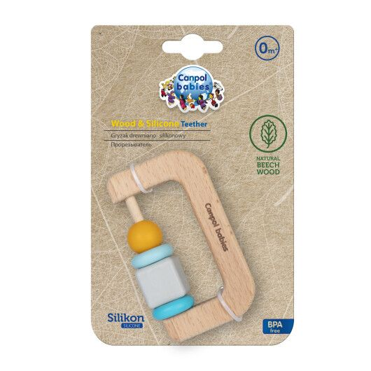 Canpol babies Игрушка-прорезыватель (деревяно-силиконовая) - 3