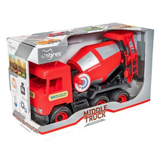 """Авто """"Middle truck"""" бетонозмішувач (червоний) в коробці - 2"""