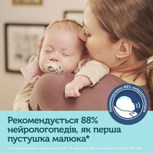 Canpol babies Пустушка силіконова симетрична 6-18 міс BONJOUR PARIS 2 шт. - рожева - 10