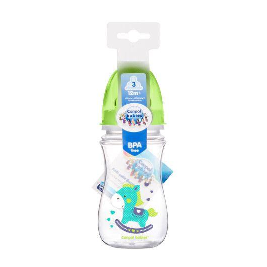 Пляшка з широким отвором антиколікова Easystart - Кольорові звірята 240 мл - 2