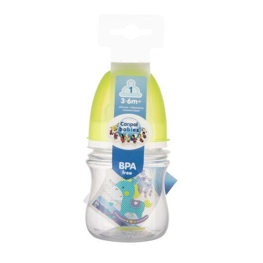 Пляшка з широким отвором антиколікова Easystart - Кольорові звірята 120 мл - 3