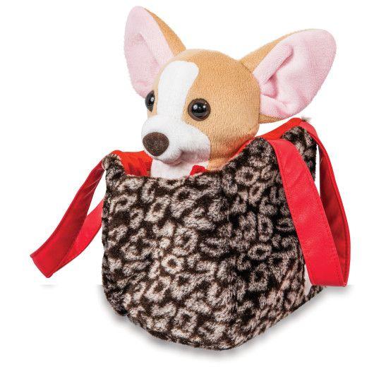 Собачка чихуахуа коричневий з сумочкою в платті