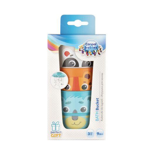 Canpol babies Іграшка-кружечки для купання HELLO LITTLE 3 шт. - 2
