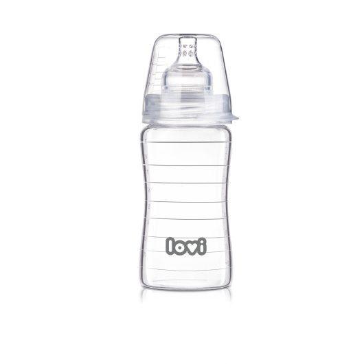 Пляшечка скляна LOVI 250 ml - Diamond Glass