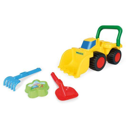 Бульдозер з іграшками для піску