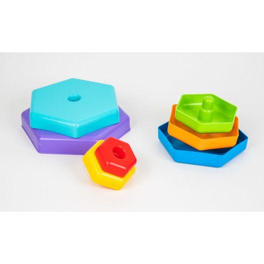 """Іграшка розвиваюча """"Пірамідка-веселка"""" в коробці - 3"""