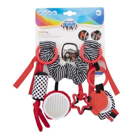 Canpol babies Брязкальце до візка плюшеве Sensory Toys - червоне - 2