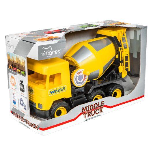 """Авто """"Middle truck"""" бетонозмішувач (жовтий) в коробці - 3"""