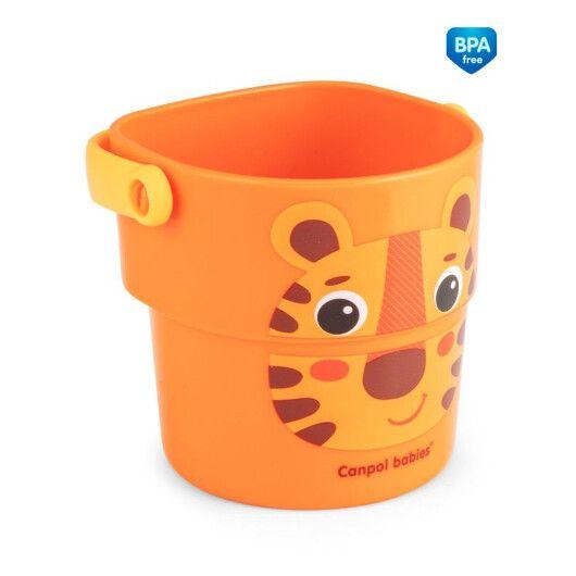 Canpol babies Іграшка-кружечки для купання HELLO LITTLE 3 шт. - 5