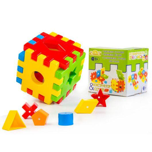 """Развивающая игрушка """"Волшебный куб"""" 12 элементов в коробке"""