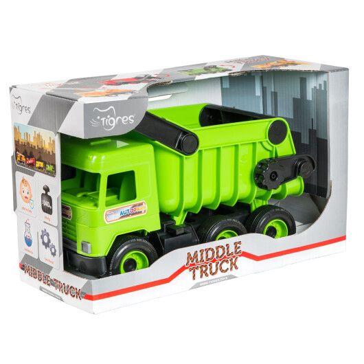 """Авто """"Middle truck"""" самоскид (зелений) в коробці"""