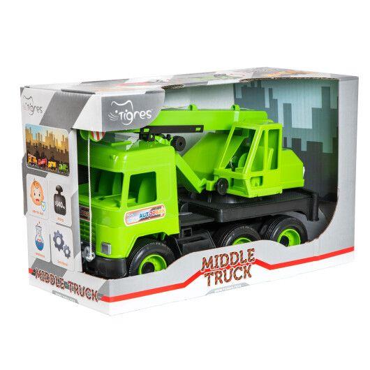 """Авто """"Middle truck"""" кран (зелений) в коробці"""
