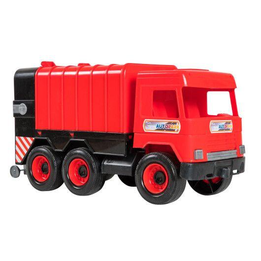 """Авто """"Middle truck"""" сміттєвоз (червоний) в коробці - 3"""