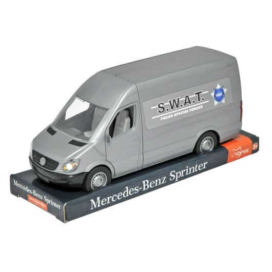 """Автомобіль """"Mercedes-Benz Sprinter"""" вантажний (сірий) на планшетці, Tigres"""
