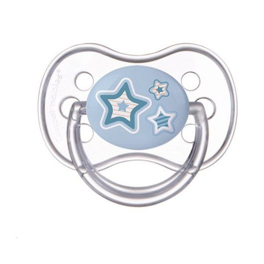 Пустушка силіконова симетрична 18+ м-ців Newborn baby - бежві серця