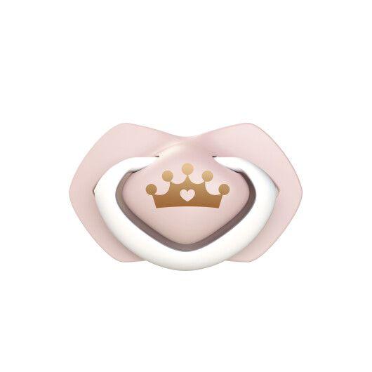 Canpol babies Пустушка силіконова симетрична 6-18 міс ROYAL BABY 2 шт. - рожева - 3