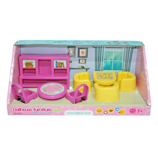 Набір меблів для ляльок (вітальня) 8 ел. - 3