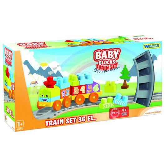 """""""Baby Blocks"""" Мої перші кубики - залізниця 1,45м - 36ел. - 2"""