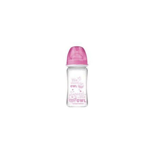 Пляшка антиколікова EasyStart ЧИСТЕскло 240 мл -Лісові друзі рожева