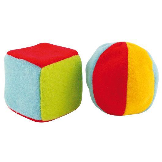 Н-р брязкалець (м'ячик великий + кубик великий)