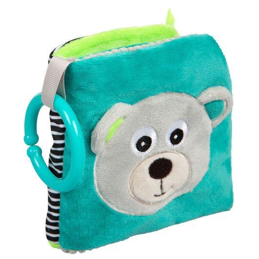 Canpol babies Іграшка-книжечка м'яка розвиваюча BEARS - сіра - 2