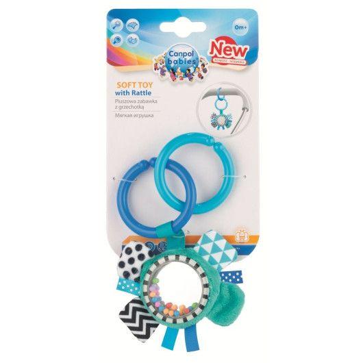 Canpol babies іграшка плюшева з брязкальцем 0+  Zig Zag стрічка