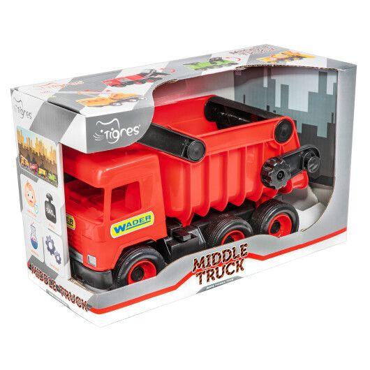 """Авто """"Middle truck"""" самоскид (червоний) в коробці - 2"""