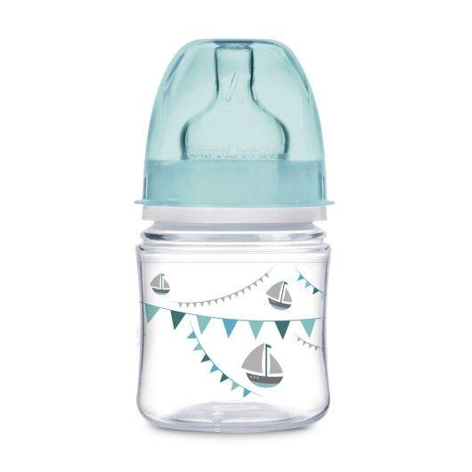 Canpol babies EasyStart пляшка з широким отвором антиколікова PP LET'S CELEBRATE 120 мл -  рожева