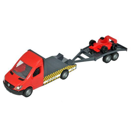 """Автомобіль """"Mercedes-Benz Sprinter"""" евакуатор з лафетом (червоний), Tigres - 2"""