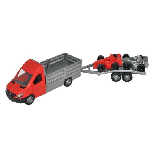 """Автомобіль """"Mercedes-Benz Sprinter"""" бортовий з лафетом (червоний), Tigres - 2"""