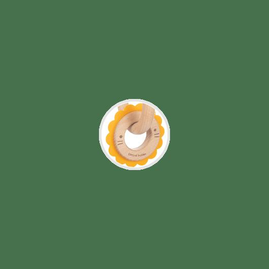 Canpol babies Іграшка-прорізувач Лев (дерев'яно-силіконова) - 7