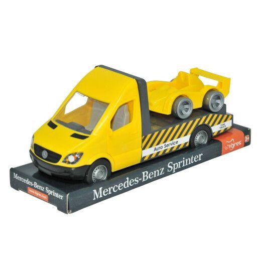 "Автомобіль ""Mercedes-Benz Sprinter"" евакуатор (жовтий) на планшетці, Tigres"