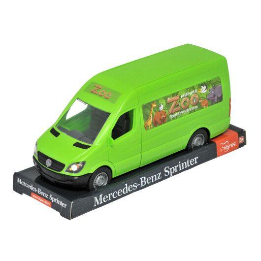 """Автомобіль """"Mercedes-Benz Sprinter""""  вантажний (зелений) на планшетці, Tigres"""