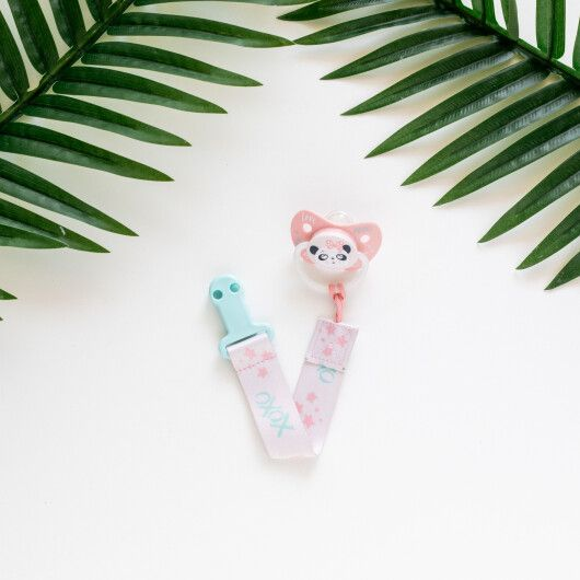 Canpol babies Ланцюжок до пустушки Exotic Animals - рожевий - 8