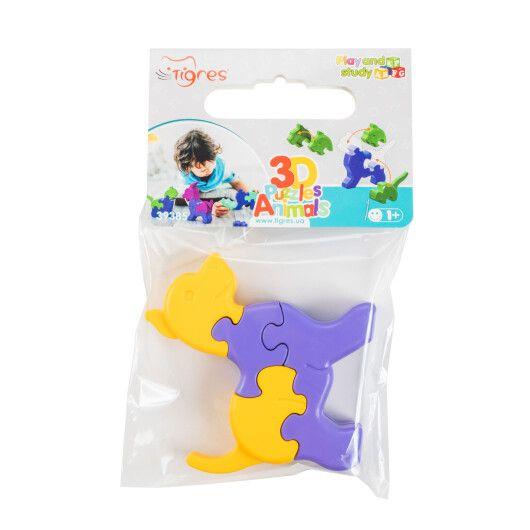 Іграшка розвиваюча: 3D пазли Тваринки (1шт.) - 2