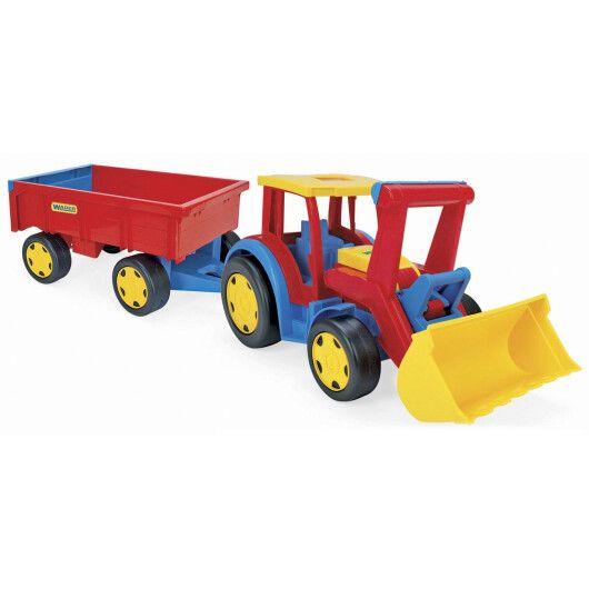 """Трактор """"Гігант"""" з причіпом та ковшем"""