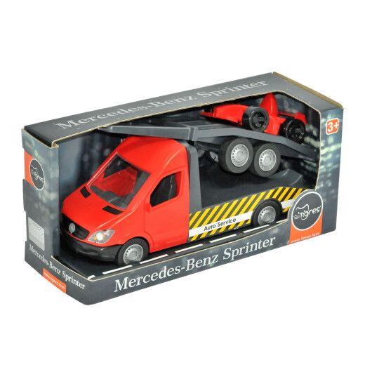"""Автомобіль """"Mercedes-Benz Sprinter"""" евакуатор з лафетом (червоний), Tigres"""