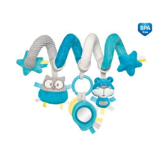 Canpol babies Іграшка м яка спіраль до ліжечка/візка Pastel Friends - коралова